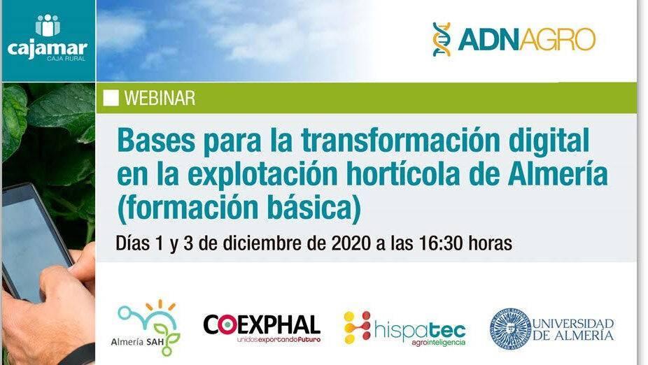 Webinar - Bases para la transformación digital en la explotación hortícola de Almería (formación básica)
