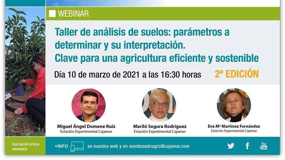 Taller de análisis de suelos: parámetros a determinar y su interpretación. Clave para una agricultura eficiente y sostenible