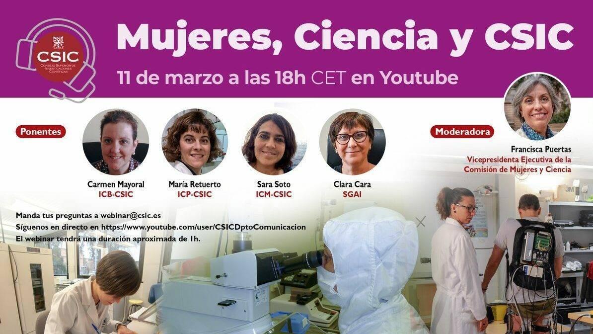 """Webinar """"Mujeres, Ciencia y CSIC"""""""