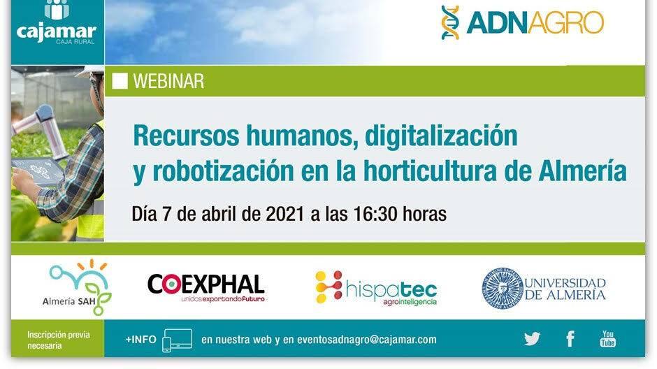 Recursos humanos, digitalización y robotización en la horticultura de Almería