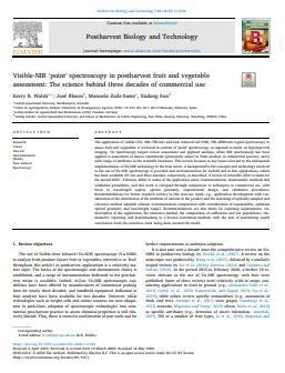 Visible-NIR 'point' spectroscopy in postharvest fruit and vegetable assessment