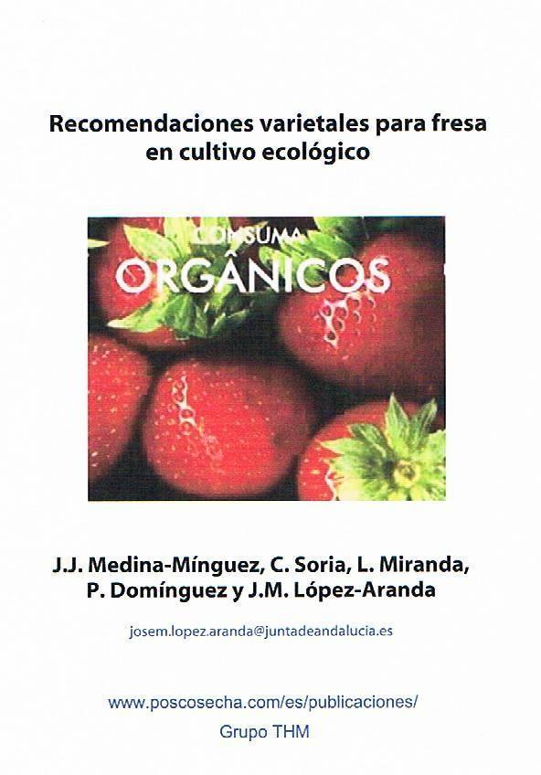Recomendaciones varietales para fresa en cultivo ecológico