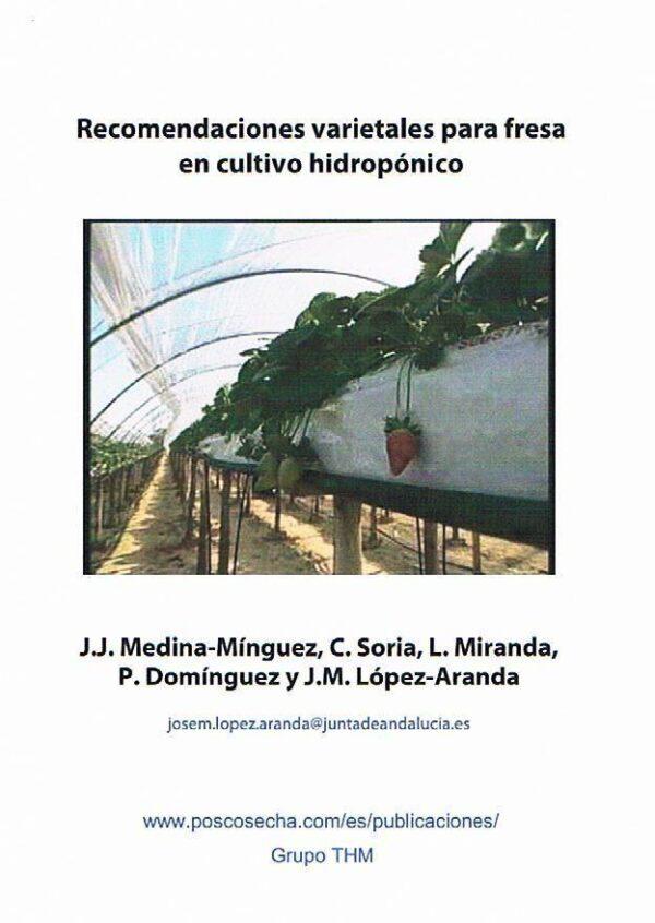 Recomendaciones varietales para fresa en cultivo hidropónico