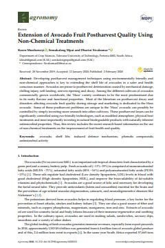 Extension of Avocado Fruit Postharvest Quality Using Non-Chemical Treatments