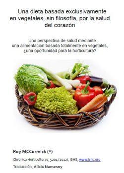Una dieta basada exclusivamente en vegetales, sin filosofía, por la salud del corazón