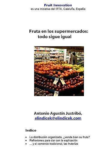 Fruta en los supermercados: todo sigue igual