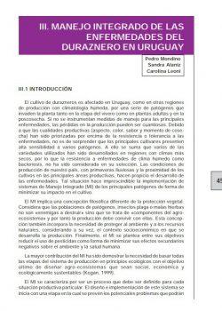 Manejo integrado de las enfermedades del melocotón de Uruguay