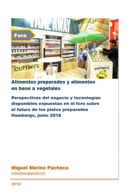 Alimentos preparados y alimentos en base a vegetales