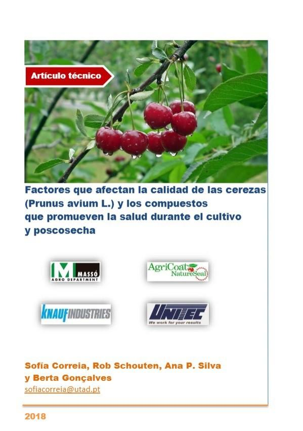 Factores que afectan la calidad de las cerezas y los compuestos que promueven la salud durante el cultivo y poscosecha