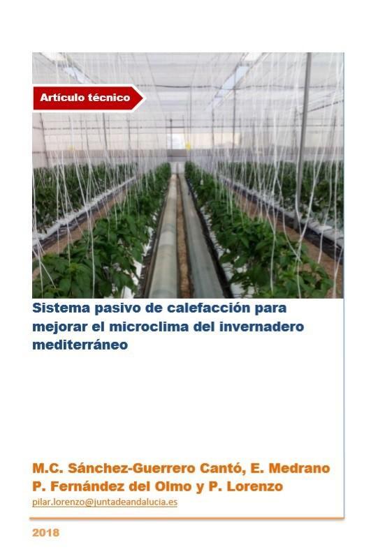 Sistema pasivo de calefacción para mejorar el microclima del invernadero mediterráneo