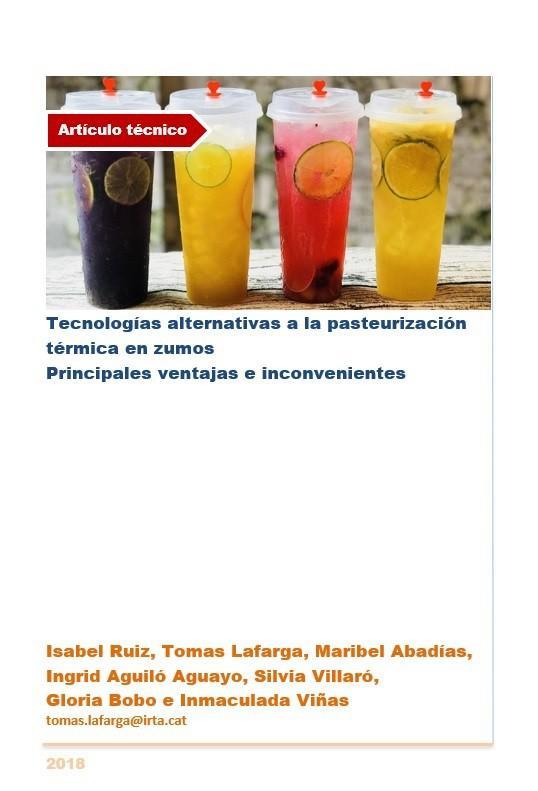 Tecnologías alternativas a la pasteurización térmica en zumos
