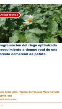 Programación del riego optimizada y seguimiento a tiempo real de una parcela comercial de patata