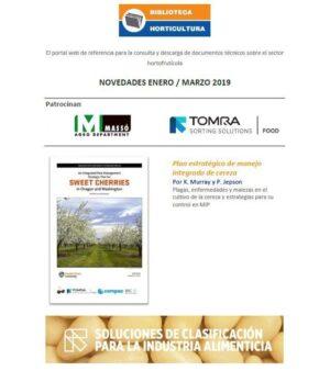 Boletín Biblioteca de Horticultura, Enero - marzo 2019