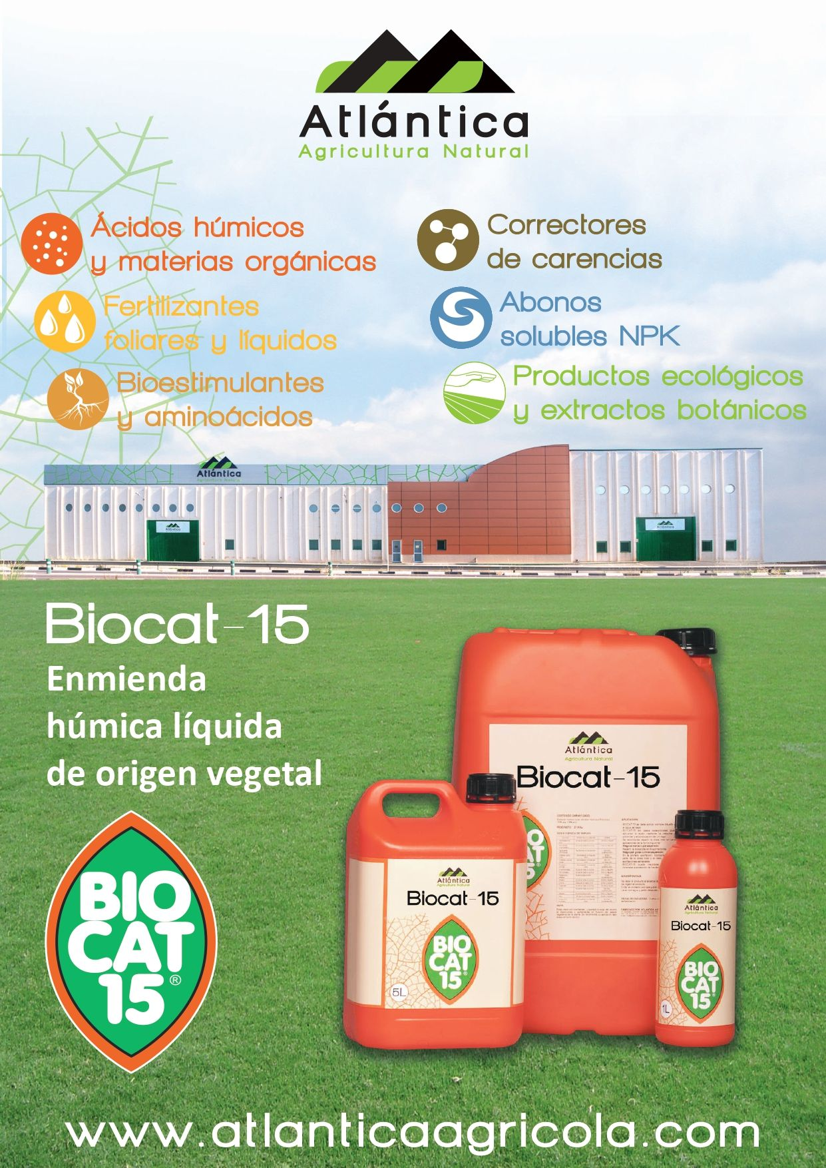 Atlántica: Agricultura Natural; BIOCAT 15, Enmienda húmica líquida de origen vegetal