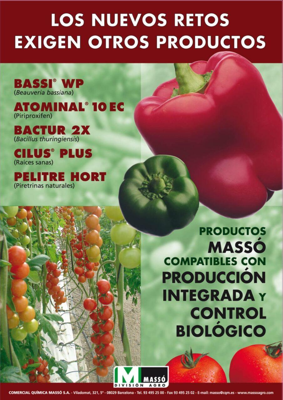 Productos Massó compatibles con producción integrada y control biológico